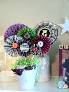 Scentsy bouquet, made with scentsy success ribbon and paper along with random scraps