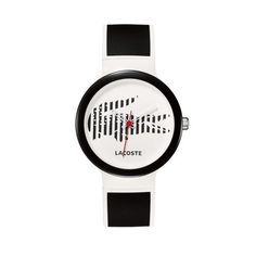 Lacoste Goa Black and White Polyurethane Unisex Watch