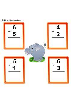 Subtraction Worksheet 8 - math Worksheets - kindergarten Worksheets ...