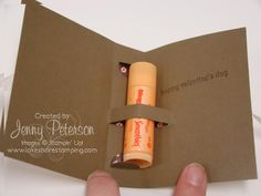 Cute packaging for lip gloss. Inexpensive gift idea!