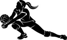 silhouette volleyball - Google Search