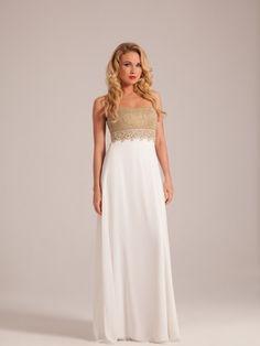 Lovely white wedding dress with gold top. Vestido de casamento com top em ouro White Wedding Dresses, Formal Dresses, Gold Top, Bride, Fashion, Vestidos, Bride Groom Dress, Engagement, Valentines Day Weddings