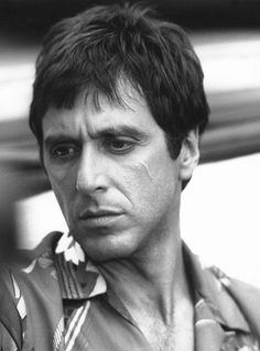 """Scarface""........Al Pacino!!....what an awesome, classic movie. Pacino was the perfect choice for this movie, along with Michelle Pfeiffer. One of my all-time favourite movies."