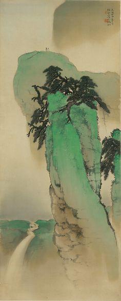 iamjapanese:  Li Xiong Cai(黎雄才 Chinese, 1910-2001) 一览众山小  1935