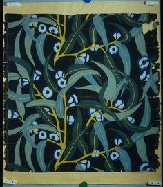 """Wallpaper """"Eucalyptus"""" for Atelier Martine by Paul Poiret, 1912 Motifs Textiles, Textile Patterns, Textile Prints, Textile Design, Print Patterns, Paul Poiret, Of Wallpaper, Designer Wallpaper, Wallpaper Awesome"""