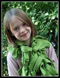 Fleece boa scarf