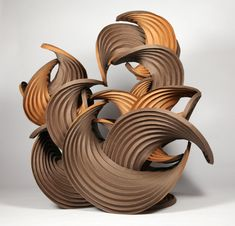Curved-Crease Paper Sculptures by... | books, paper, scissors