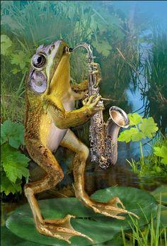 Diamond mosaic full diamond embroidery frog blow Sax  DIY diamond painting cross stitch crystal round diamond sets decorative #Affiliate