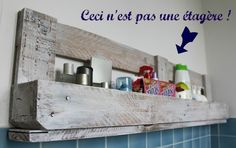 Comment recycler une palette en étagére murale #DIY #Palette @SAVE THE GREEN.fr