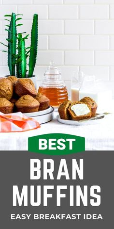 These are the best bran muffins! Made with common refrigerator and pantry ingredients, they're quick and easy to make. Assemble a batch of healthy muffins in 30 minutes. A convenient grab-and-go breakfast for active families, they're packed packed with fiber, curbing hunger between meals. Take these portable snacks to school or work. Enjoy them for Sunday brunch on Mother's Day, Father's Day, holiday mornings, and as baby shower food. This is the best bran muffin recipe with all bran cereal! Fall Dinner Recipes, Brunch Recipes, Fall Recipes, Healthy Dinner Recipes, Breakfast Recipes, Quick Recipes, Breakfast Ideas, Vegetarian Snacks, Breakfast Buffet