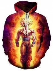 Genteel New Winter Jackets And Coats Dragon Ball Z Hoodie Anime Son Goku Hooded Thick Zipper Men Cardigan Sweatshirts Men's Clothing