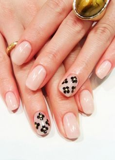 Love the accent nails, especially with the nude base.