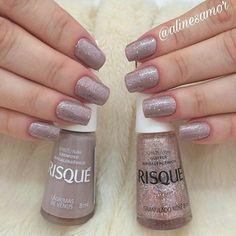 👉 By: @alinesamor | Viu no explorar? Então segue a gente 🔹 @_manicureporamor 🔹 ---------------- #manicureepedicure #manicurepedicure… Shellac Pedicure, Pedicure Colors, Nail Colors, Glitter Toe Nails, Nude Nails, French Pedicure, Stylish Nails, Nagel Gel, Nails Inspiration