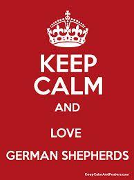 keep calm and love a german shepherd dog - Google Search