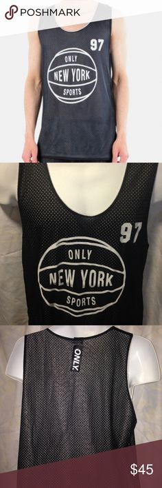 Mens Mesh Basketball Team Reversible Jersey Tank Top Shirt
