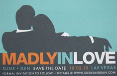 Mad Men Inspired Wedding Invitations and Save The Dates