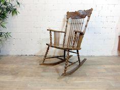 Wunderschöne Schaukelstuhl, Shabby, beachhouse, mit seltene schnitzerei in Möbel & Wohnen, Möbel, Stühle | eBay!
