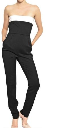 d5a64f17e7cf Valentino Bow Techno Wool Couture Jumpsuit - Lyst