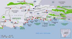 The Garden Route map
