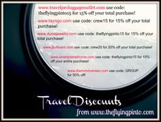 Exclusive discounts for our travel pros!