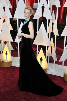 Cate Blanchett in Margiela and Tiffany & Co. on the Oscars 2015 Red Carpet. [Photo by Donato Sardella]