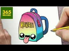 COMMENT DESSINER CARTABLE KAWAII ÉTAPE PAR ÉTAPE – Dessins kawaii facile - YouTube