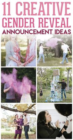 These 11 creative gender reveal announcement ideas are SO CUTE! What a great way to find out the gender of your next baby or to announce it to your family and friends!