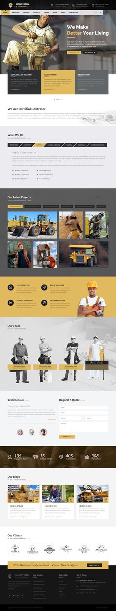 Handyman & Repairing HTML Template is designed specially for construction, renovation business, #handyman, #plumber, #carpenter, craftsman workshop, #painter, welder, #Maintenance services and all type of repairing type of services Website. #htmltemplate