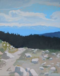 Leadville, July, Acrylic on Canvas, x 2017 Landscape Paintings, Mountains, Canvas, Amazing, Travel, Artists, Tela, Viajes, Artist