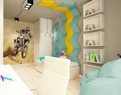 APARTAMENT NA GOCŁAWIU 120 m2 - Średni pokój dziecka dla chłopca dla malucha, styl nowoczesny - zdjęcie od design me too