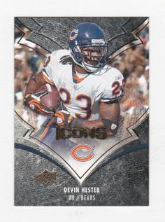 Devin Hester Chicago Bears (Football Card) 2008 Upper Deck Icons #17 by Icons. $0.36. Flat shipping rate on all orders. $20 orders and above receive free shipping!