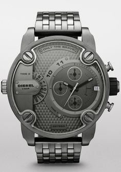 jared movado® men s watch sapphire™ 606307 men s fashion diesel dz7258 sba leather chrono gunmetal brown