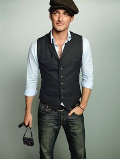 vest and jeans - Alex Lubomirski