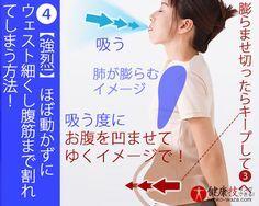 強烈!】ほぼ動かずにウェスト細くし腹筋まで割れてしまう方法!おまけに肝臓にも良い!健康技4