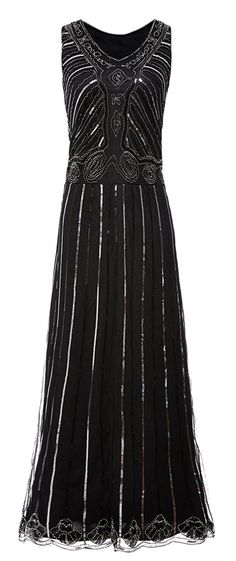 QNPRT 1920s Gatsby Dress Sequin Maxi Long Evening Cocktail Prom for Women  at Amazon Women s Clothing e0101c39357a