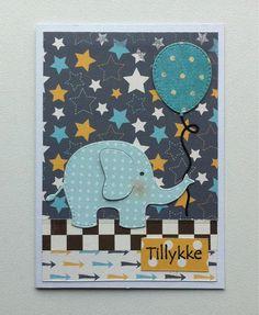 Tag small card - Kid birthday card with elephant & balloons - til og fra kort - fødselsdag - Carta Bella: Boy oh Boy - paper pad - #balloon