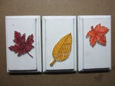 fall leaf string art on Etsy, $15.00