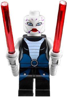 GEEK / LEGO® Star Wars™ Minifigur Asajj Ventress™ (aus Bausatz 7957) mit zwei Laserschwertern: Amazon.de: Spielzeug
