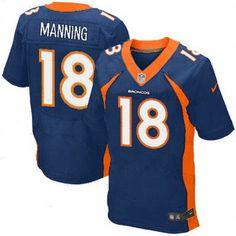 2013 Denver Broncos #18 Peyton  Manning Elite Blue Jersey  @Wendy Werley-Williams.repjerseys.com  just $21.88