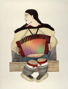 Napachie Pootoogook....Inuit Art...Canada