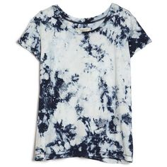 Current/Elliott Crew Neck Tee ($128) ❤ liked on Polyvore featuring tops, t-shirts, shirts, tees, t shirts, tie dyed t shirts, tie dye shirts, tie die t shirts and crew shirt