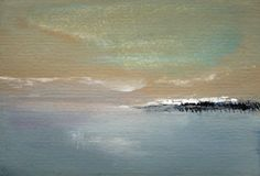 Still Cold  Small Abstract Landscape Painting by PuzzledbyArtmondo