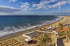 Playa del Ingles din Gran Canaria