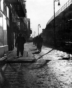 Anonymous Title: View of The Bowery, NYC Medium: Gelatin Siver Print Mount: unmounted Print Date: Photo Date: Dimensions: x in. Go Transit, East Side Gallery, 1920s Photos, S Bahn, Vintage Photography, White Photography, Lower East Side, Vintage New York, East Village