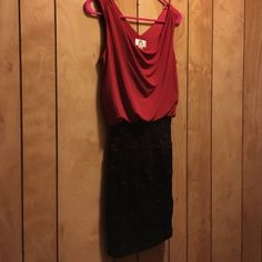 NWOT holiday dress Fitted Bottom lace design - has some stretch to it. Never worn. Dresses