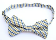 OCIA® Mens Checkered Microfiber Pre-tied Bow Tie - ND023 at Amazon Men's Clothing store: