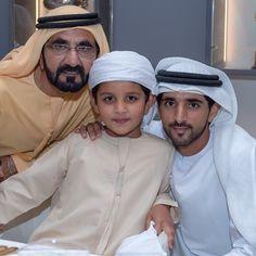 Mohammed bin Rashid bin Saeed Al Maktoum, Hamad bin Mohammed bin Hamad Al Sharqi y Hamdan bin Mohammed bin Rashid Al Maktoum, DWC, 28/03/2015. Vía: latifa.mrm