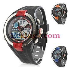 Men's Blue Light Multi-Functional Rubber Analog Digital Multi-Movement Wrist Watch (Black) : Online Shopping for Watches, Toys & Digital Watch, Multifunctional, Casio Watch, Cool Watches, Smart Watch, Online Shopping, Light Blue, Toys, Accessories