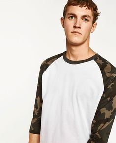 Image 5 of CAMOUFLAGE SLEEVES T-SHIRT from Zara