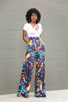 V-Neck Tee Bodysuit + Printed Palazzo Pants | Style Pantry | Bloglovin'